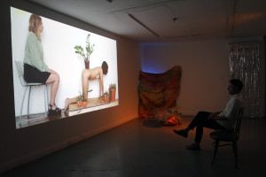 Night Soil/Fake Paradise by Melanie Bonajo projected.