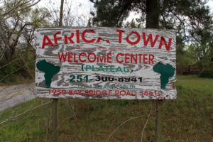 Africatown welcome sign-web