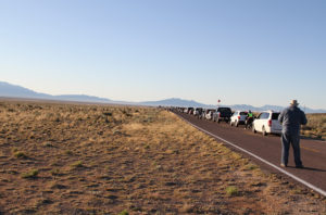 Trinity Site waiting line